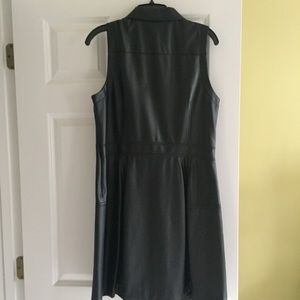 Black MK leather dress